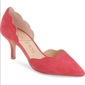 Sole Society Coral Scalloped Pumps